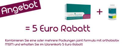 joint formula und MSM kombinieren und 5 Euro sparen!